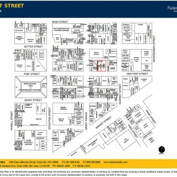 Plan of mall 150 Post Street