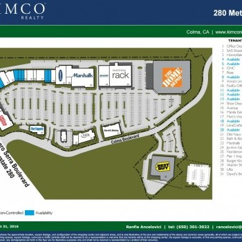 Plan of mall 280 Metro Center