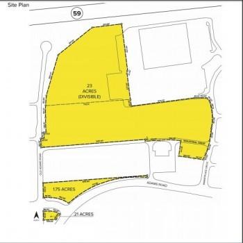 Plan of mall Adams Marketplace Phase II