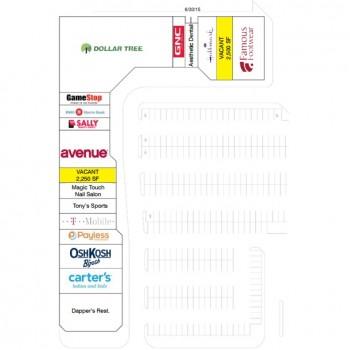 Plan of mall Addison Mall