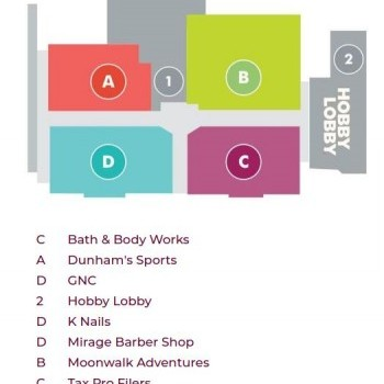 Plan of mall Adrian Mall