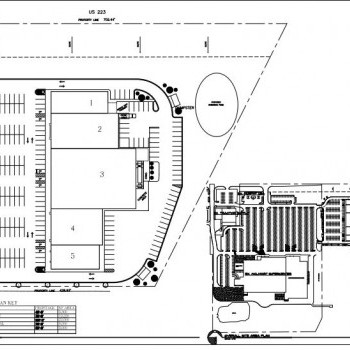 Plan of mall Adrian Plaza