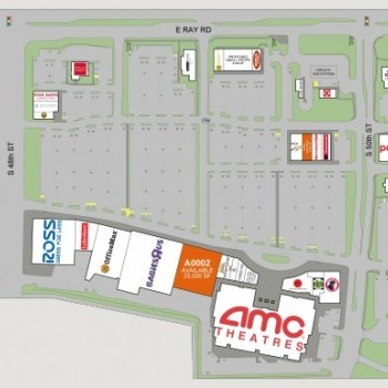 Plan of mall Ahwatukee Foothills Towne Center