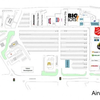 Plan of mall Airway Shopping Center