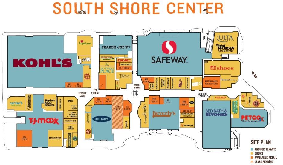 South Shore Plaza Map Alameda South Shore Center   store list, hours, (location: Alameda