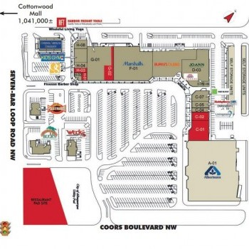 Plan of mall Alameda West Shopping Center
