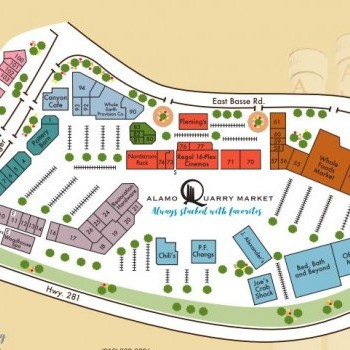 Plan of mall Alamo Quarry Market
