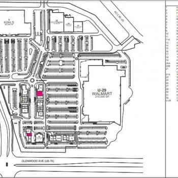 Plan of mall Alexander Place Crossing