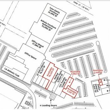 Plan of mall Alexandria Power Center