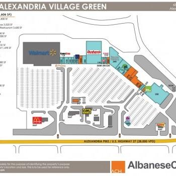 Plan of mall Alexandria Village Green