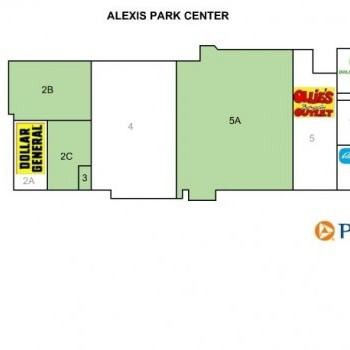 Plan of mall Alexis Park