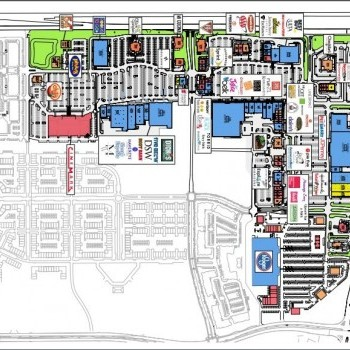 Plan of mall Alliance Town Center