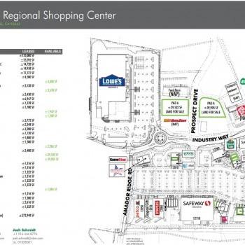 Plan of mall Amador Ridge