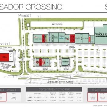 Plan of mall Ambassador Crossing