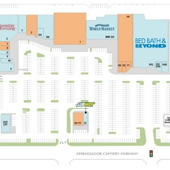 Plan of mall Ambassador Row & Courtyards