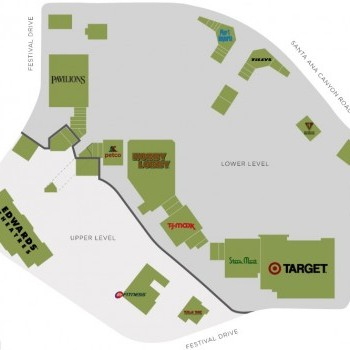 Plan of mall Anaheim Hills Festival