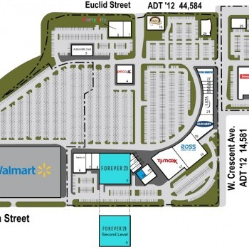 Plan of mall Anaheim Plaza