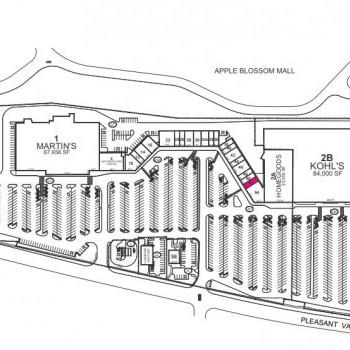 Plan of mall Apple Blossom Corners