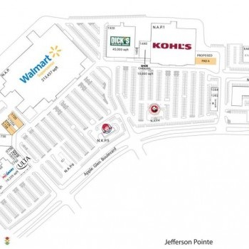 Plan of mall Apple Glen Crossing