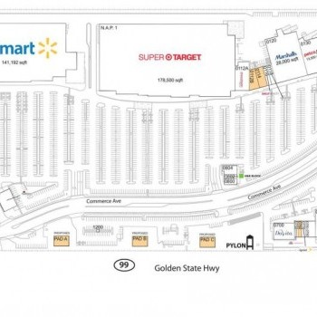Plan of mall Applegate Ranch Shopping Center