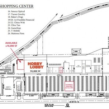 Plan of mall Applewood Shopping Center