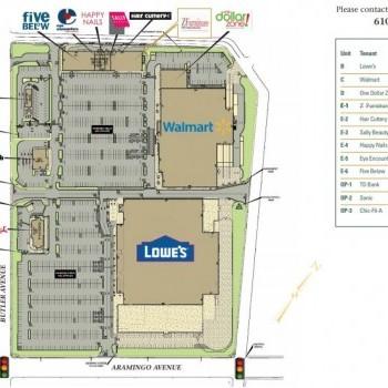 Plan of mall Aramingo Crossings