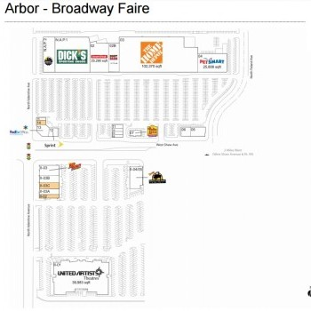 Plan of mall Arbor - Broadway Faire