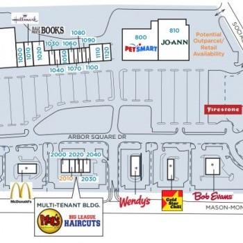 Plan of mall Arbor Square