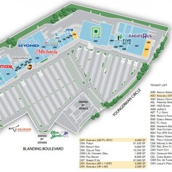 Plan of mall Argyle Village Shopping Center