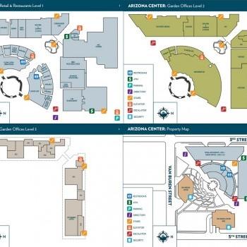 Plan of mall Arizona Center