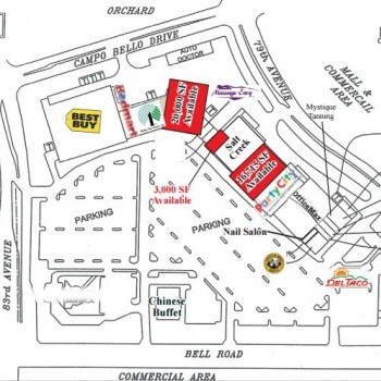 Plan of mall Arrowhead Marketplace