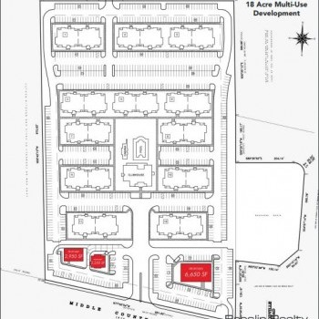 Plan of mall Artist Lake Plaza