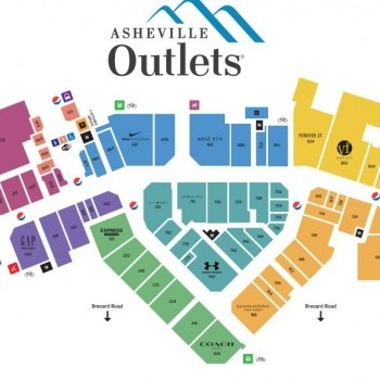 Plan of mall Asheville Outlets