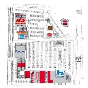 Plan of mall Ashland Hanover Shopping Center