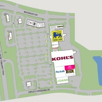 Plan of mall Ashley Crossing
