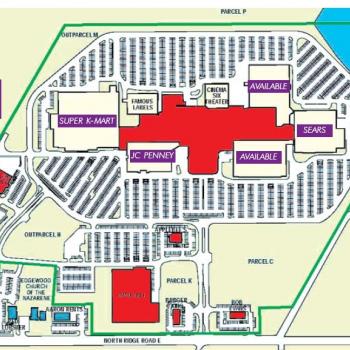 Plan of mall Ashtabula Towne Square