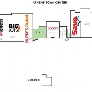 Plan of mall Athens Town Center