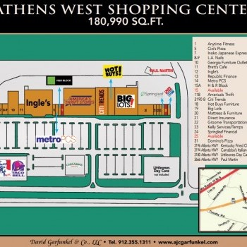 Plan of mall Athens West Shopping Center