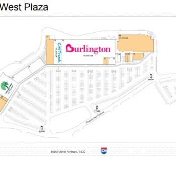 Plan of mall Augusta West Plaza