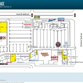 Plan of mall Aurora Marketplace