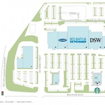 Plan of mall Aventura Square