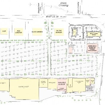 Plan of mall Avon Commons