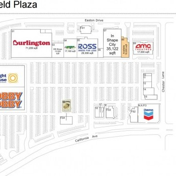 Plan of mall Bakersfield Plaza
