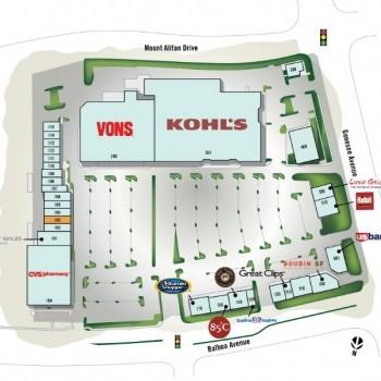 Plan of mall Balboa Mesa Shopping Center