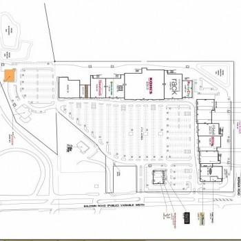 Plan of mall Baldwin Commons