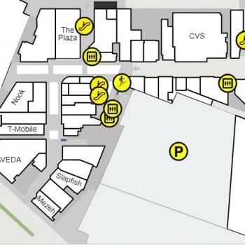 Plan of mall Ballston Quarter