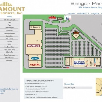 Plan of mall Bangor Parkade