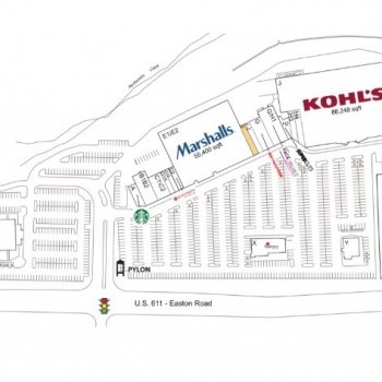 Plan of mall Barn Plaza