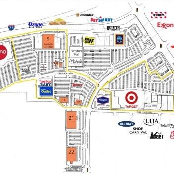 Plan of mall Barrett Pavilion