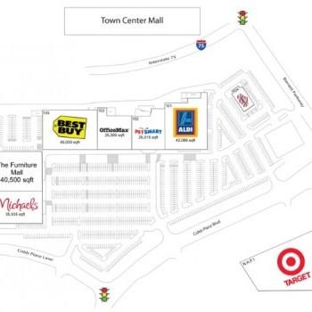 Plan of mall Barrett Place